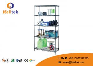 China 5 Tier Wire Rack Storage Shelves Chrome Plating Easy Dismantle For Kitchenware on sale