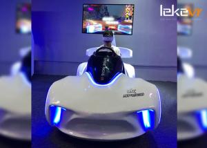 China Attractive Leke Virtual Reality Car Simulator With Speeding Race 9D VR Simulator on sale