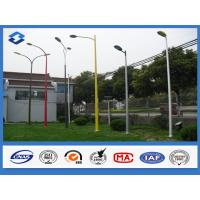 Varous shape decorative street light pole / posts customized Painting color street lighting columns