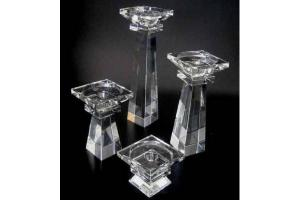 China Beautiful crystal lotus candle holder on sale