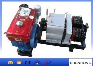 China Double Capstan Diesel Cable Winch 3KW Water Cooled Diesel Engine Cable Pulling Winch on sale
