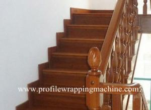 China veneer profile wrapping machine with CE on sale