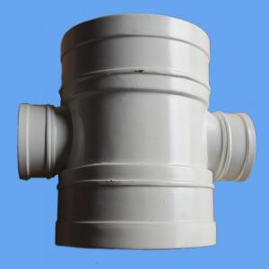 China China Manufacturer High Quality PVC Pipe Fittings White Reducing Cross For Drainage on sale