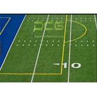 China Realistic Looking Soccer Artificial Grass Rug Strong Wear Resistant PE Material on sale