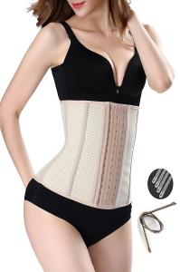 China Inner Cozy Womens Waist Cincher 9 Steel Boned Skin Breathable More Size on sale