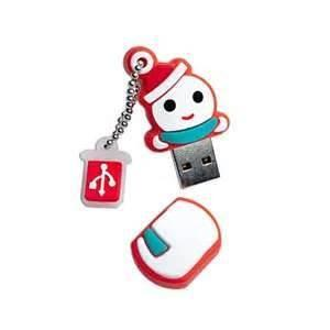 China Smallest 4GB 2gb 20gb 8gb Cute PVC Snowman USB Flash Drive / Stick Best Christmas Gift on sale