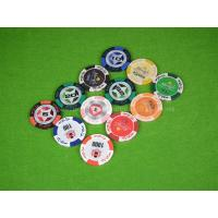 China 14G Double Suited Clay Poker Chips Anti Counterfeit Chip With Metal Inside on sale