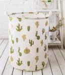 Promotion Big Size Kraft Paper Storage Bags Hamper Basket Canvas With Printing