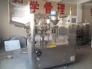 China 30-50 0.1M³ / Min Capacity Plastic Tube Filling Machine For Air Heating Sealing Tube on sale