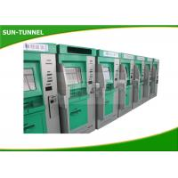 China Security Train Ticket Vending Machine , Ticket Printing Card Reader Kiosk on sale