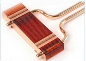 China Electronics Copper Pipe Heat Sink Mini Copper Fin Welded on sale