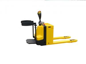 China Heavy Duty Stand On Electric Pallet Jack , 3 Ton Warehouse Pallet Trucks on sale