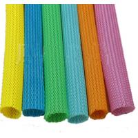 Automatic telescopic 20mm color circular braided mesh tube Colored round snake skin mesh protection tube