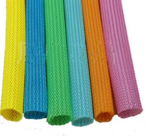 China Automatic Telescopic 20mm Circular Braided Mesh Tube / Colored Round Snake Skin Mesh Protection Tube on sale