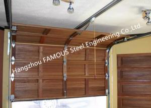China Wooden Look Overhead Steel Garage Door Smart Sectional Lifting Door Solutions on sale