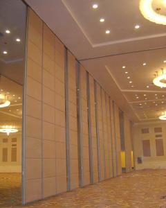 China Multi Color Fabric Surface Office Partition Wall With Sliding Aluminium Door on sale