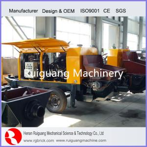 China diesel engine stationary concrete pump on sale