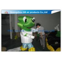 Green Head Frog Inflatable Cartoon Characters Inflatable Animal Costume Adult Size