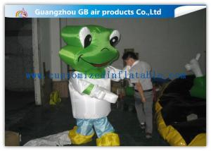 China Green Head Frog Inflatable Cartoon Characters Inflatable Animal Costume Adult Size on sale