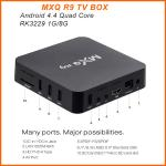 Boîte intelligente MXQ R9 du noyau UHD 4K 60fps TV de quadruple de la boîte RK3229 de MXQ R9 4K Android TV