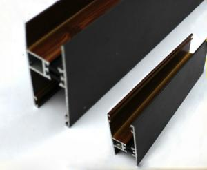 China Square / Round Wood Finish Aluminium Profiles Black Color For Building Material on sale