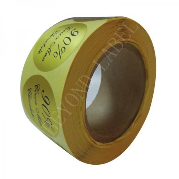 Cheap Waterproof Custom Adhesive Foil Labels For Product