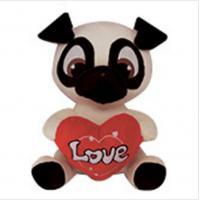 China PUG Soft Animal Holiday Plush Toys PUPPY DOG Doll For Birthday Gift on sale