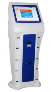 China Check Reader, Motion Sensor Free Standing Kiosk, Wireless Connective (WIFI / GSM / GPRS) on sale