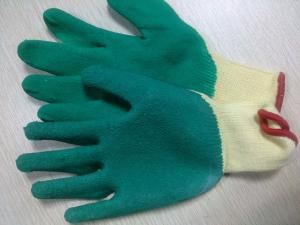 China Latex coated Cotton Yarn Safety Working Gloves For Garbage Collection cutting resistant safety glove on sale