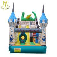 Hansel stockamusement park equipment kids soft play area inflatable bouncer castle factory