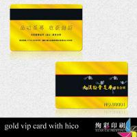 China Silk Screen Printing PVC Magnetic Stripe Cards Gold / Silver Background on sale
