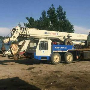 China Used Crane Sale in Malaysia , 50 Ton QY50K China XCMG Blue Color Second-hand Condition Crane on sale
