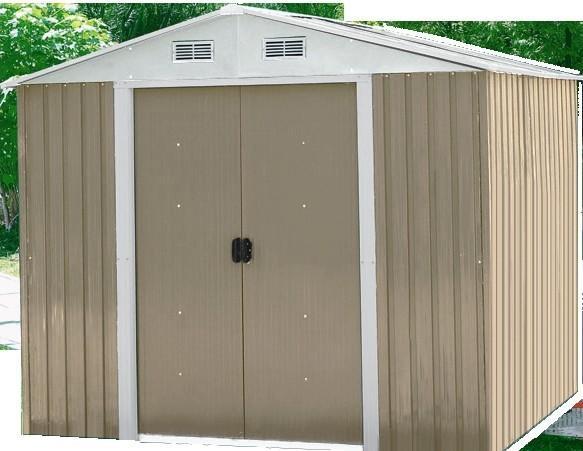 Prefab outdoor metal storage shed steel garden sheds 0 for Used metal garden sheds for sale