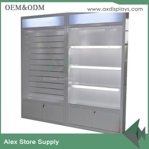 Quality White Wall Wood MDF Showcase Display Cabinet Design Glass Display  Cabinet With LED Light For ...