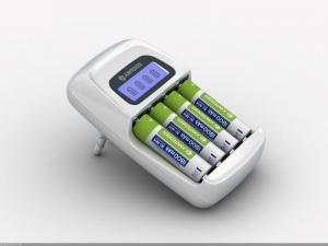 China Short-circuit protection LCD NiMH Smart Battery Charger for 4 AA / AAA batteries on sale