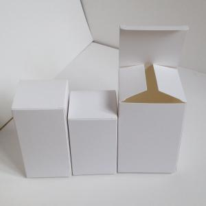China White Cardboard Jewelry Perfume Candy Paper Box Packaging Non Printed on sale