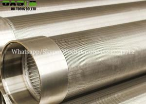 China 13 3/8 water well screen Johnson strainer well screen pipe with plain end connection on sale