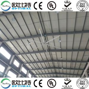 China OPT 7.3m industrial ceiling fans for logistics industry with good cooling effect on sale