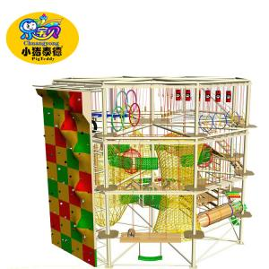 China high ropes adventure course aerial ropes course child play equipment on sale