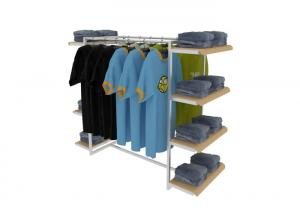 Quality Middle Floor Standing Industrial Clothing Rack , Mobile Light Duty Clothing for sale