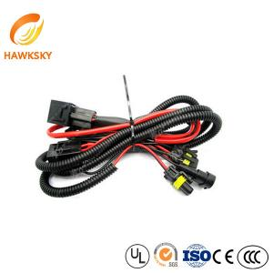 China HID Conversion Kit Wire Harness Adapter Wiring Black Xenon Relay Cable Relay Harness Manufacturer on sale