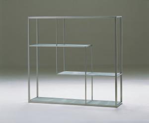 ... Quality Modern Glass Bookcase, Sitting Room Furniture Metal Bookshelf  for sale