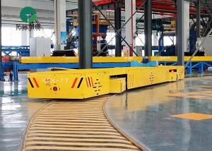 China 7 Ton Machinery Plant Workpiece Handling S Type Rail Turning Electric Transfer Trolleys on sale