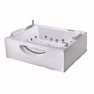 China Rectangular Massage Bubble Jet Adult Jacuzzi Corner Whirlpool Tub / Two Person Whirlpool Bathtub on sale