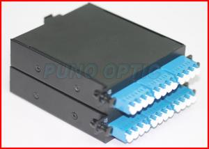 China Single Mode 24 Core MTP Cassette Patch Panel with MTP to LC Duplex Fanout Cable on sale