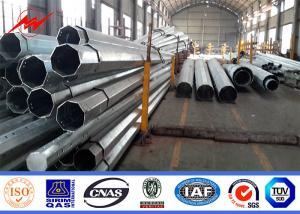 China 69KV 45FT 2 Segements Electric Galvanized Steel Pole Philippines NEA Standard on sale