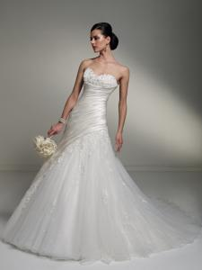 China 2013 White/Ivory Wedding Dress Gown Custom Size Bridal Dressing Gowns Online on sale