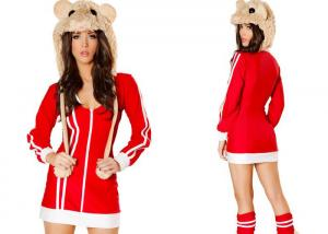 China Red Da Bomb Hamster Party Adult Costumess Sexy 2pcs Red Veil For Carnival on sale