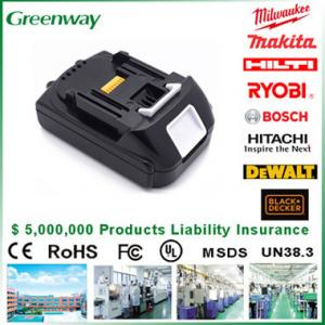 For MAKITA 18V 3.0Ah LITHIUM ION BATTERY BL1830 BHR202 BHR240 X 3 NEW UK