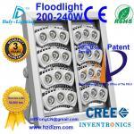 La lumière d'inondation de LED 200-240W avec du CE, RoHS a certifié et projecteur de refroidissement d'efficacité de meilleur fabriqué en Chine